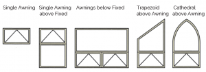 Kento awning windows come in many configurations